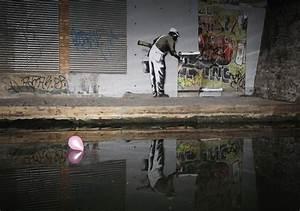 Graffiti artwork from Banksy, 'The Guerrilla Artist'