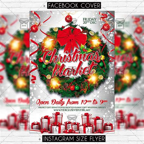 christmas twilight market flyer template free download3 17 magic merry christmas psd flyer templates for your