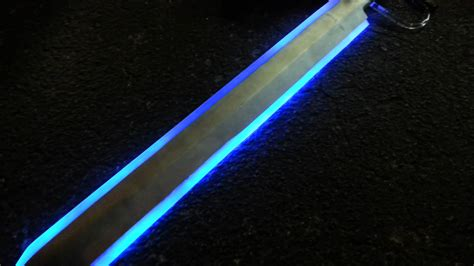 painting on plexiglass wh40k power sword audrino controlled led test 2