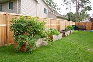 Raised beds along the back fence just a couple 2 for Decoration pour jardin exterieur 7 dressing design