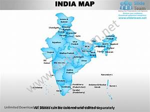 india country editable powerpoint maps with states and With india map ppt template