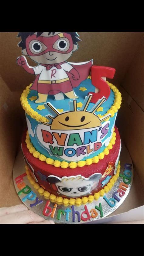 ryans world cake birthday cake kids boys birthday cake