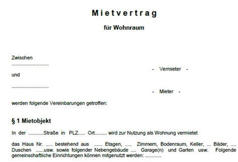word vorlage mietvertrag wohnung  freewarede