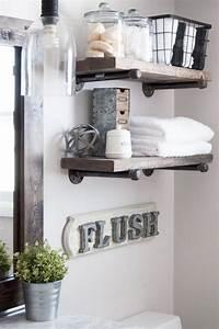 Bathroom, Shelves, -, Beautiful, And, Easy, Diy, Bathroom, Space, Saver, Shelving, Ideas