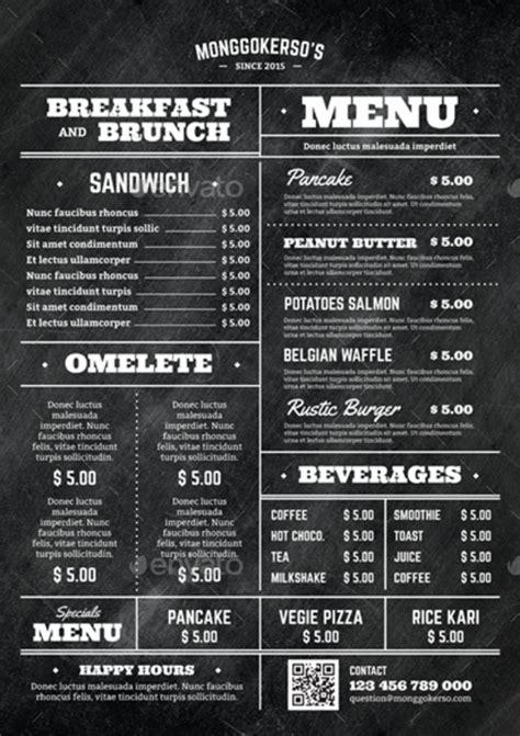 elegant brunch menu templates psd ai