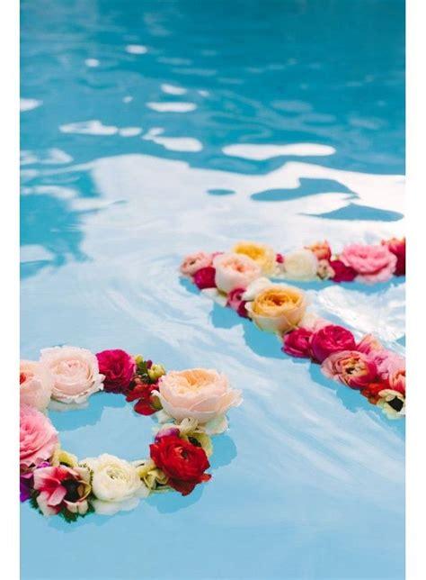 faire flotter des fleurs jardin mariage pinterest deco