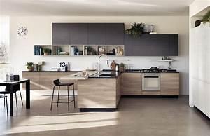 cuisine en bois moderne et sobre With cuisine moderne en bois