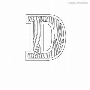 stencil letters d printable free d stencils stencil With letter stencils for wood