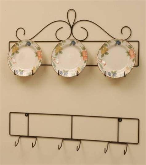 wrought iron plate hanger horizontal       plates plate racks  hangers