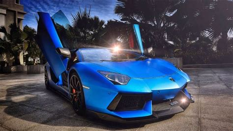 Black And Blue Lamborghini 8 Background