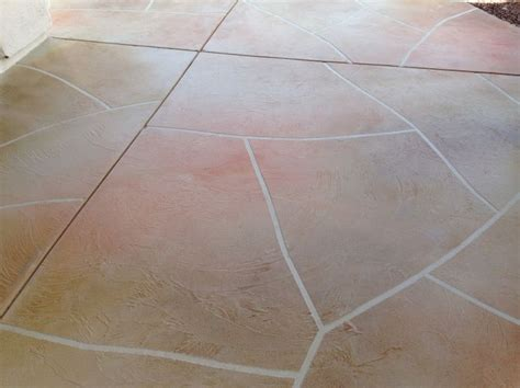 flagstone stained concrete patio tucson az arizona