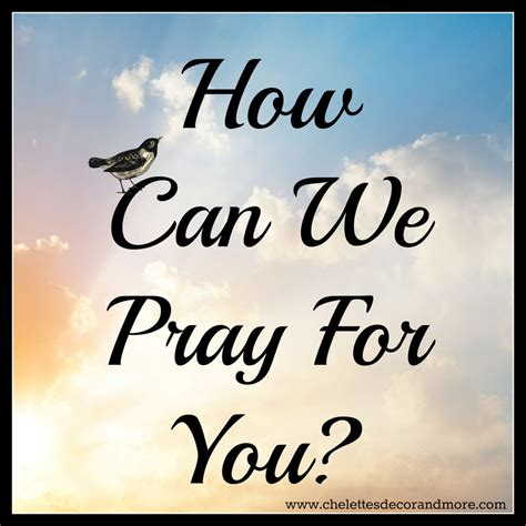 How Can We Pray For You? New Weekly Prayer Post