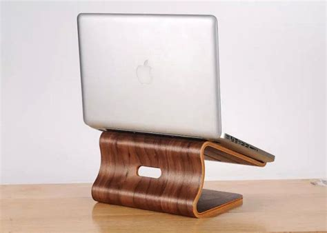 levitating laptop docks elevating plywood laptop stand
