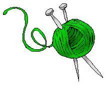 Vintage Knitting Needles Clipart