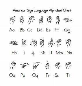Sign language alphabet chart 9 download free documents for Sign language documents