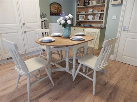shabby chic dining table sets shabby chic gate leg dining table 4 chairs vintage solid oak sold moonstripe