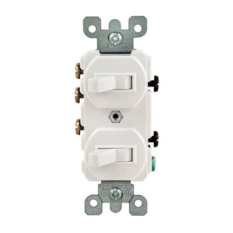 Leviton Amp Way Double Toggle Switch White