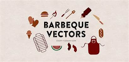 Bbq Drawn Hand Vectors Tuesday Every Eps