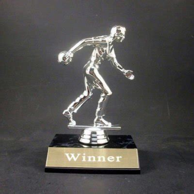 funny bowling award trophy   engraving  brass plate