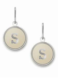 Lyst alex and ani initial s necklace charm in metallic for Alex and ani letter necklace