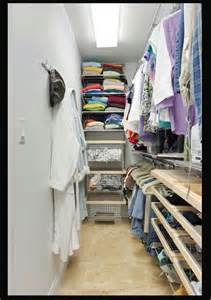 narrow walk in closet idea walk in closet