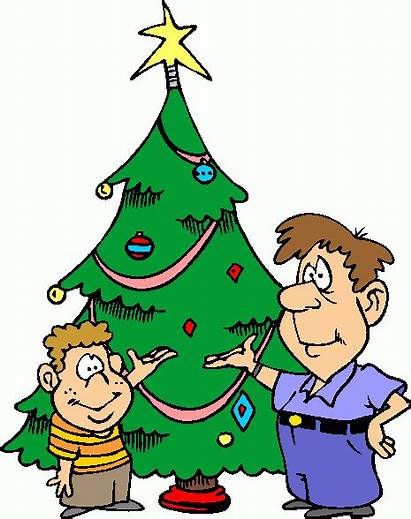 Decorating Clipart Decorated Decorate Christmas Tree Cliparts