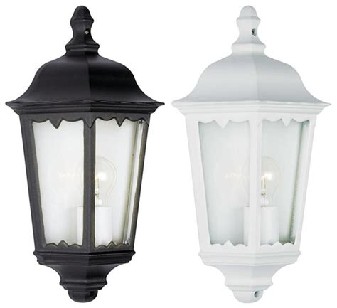 10w led outdoor exterior 3 sided half wall lantern black or white with l ebay