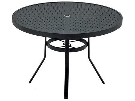 table with umbrella hole winston sted aluminum 42 39 39 round dining table with