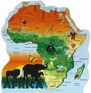 Africa Map | The Cat's Meow Village