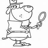 Detective Coloring Pages Dog Awesome Museum Netart Master Night Getcolorings Printable Unique sketch template