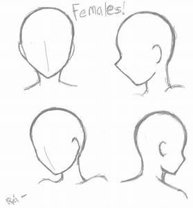 basic female head poses by saoshi kundeviantartcom With anime head template