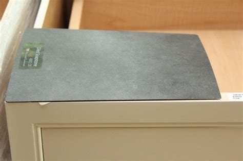 """We have the Wilsonart oiled soapstone laminate. I have to"