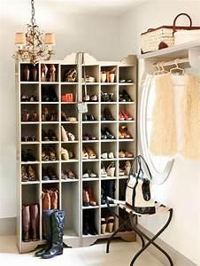 Rangement Chaussures Original : meuble chaussures casier ~ Teatrodelosmanantiales.com Idées de Décoration