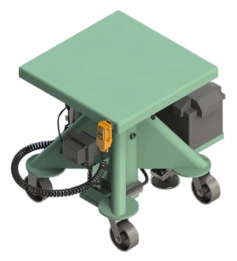 battery powered table ls battery power lift tables lange lift