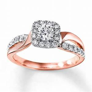 rose gold rings rose gold rings kay jewelers With rose gold diamond wedding ring