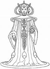 Amidala Coloriages sketch template