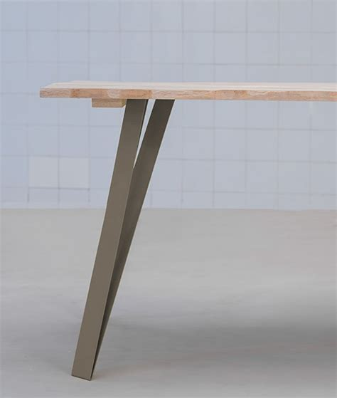plateau de bureau bois graf k fabricant de pieds de table et plateau en bois design