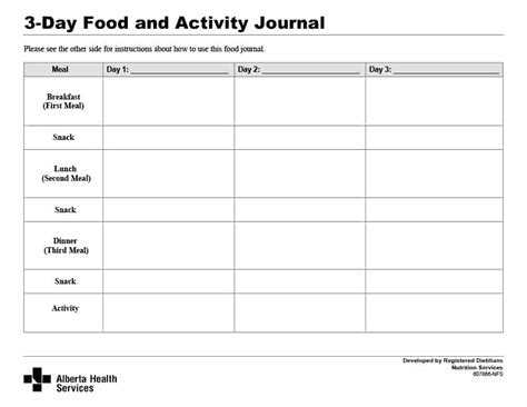 Food Journal Template Food Journal 30 Beautiful Templates Template Archive