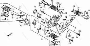 Honda Motorcycle 1985 Oem Parts Diagram For Footpegs