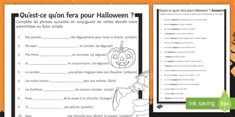 Halloween Simple Future Tense Gap Fill Worksheet Activity