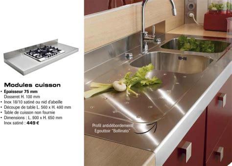 plan de travail cuisine inox pas cher cuisine plan de travail plus résistant que le bois pas