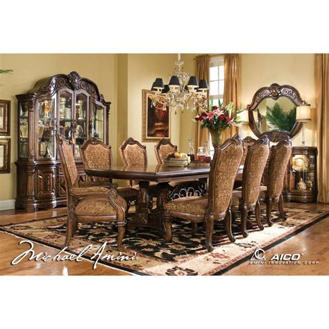 china cabinet dining table aico 8pc windsor court rectangular dining table set with