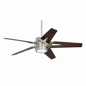 Modern brushed steel energy efficient ceiling fan emerson