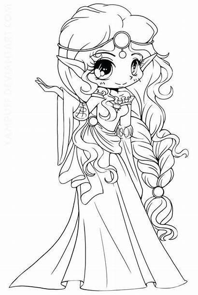 Chibi Coloring Pages Anime Getdrawings