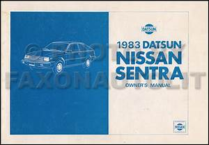 1983 Datsun  Nissan Sentra Repair Shop Manual Original
