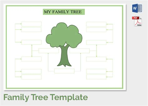 Family Tree Diagram Template Microsoft Word by Free Family Tree Template Word Excel Calendar Template