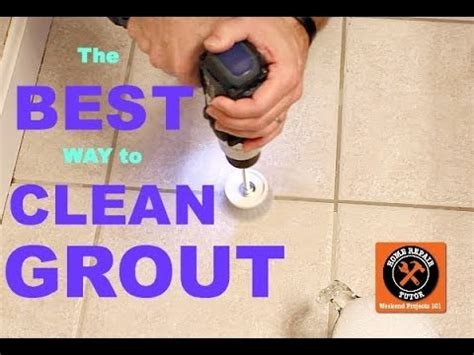 best way to clean grout by home repair tutor