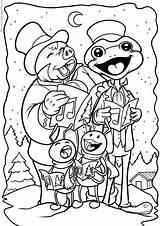 Coloring Chorus Songs Singing Joulu Navidad Outdoors Varityskuvia Tulosta Imprimir sketch template