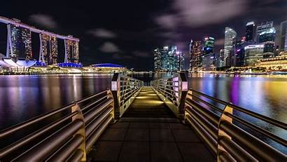 8k Singapore 4k Night Marina Bay Wallpapers