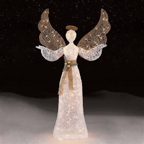 lighted christmas angels yard images  pinterest